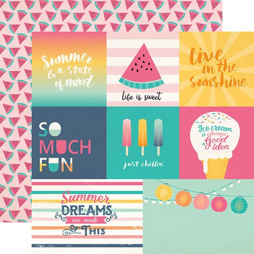 Echo Park - Summer Dreams Collection - 12 x 12 Double Sided Paper - Multi Journaling Cards