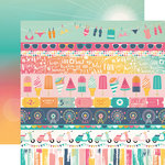 Echo Park - Summer Dreams Collection - 12 x 12 Double Sided Paper - Border Strips