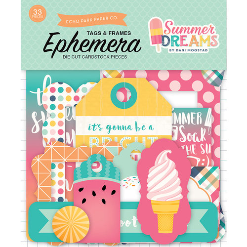 Echo Park - Summer Dreams Collection - Ephemera - Frames and Tags