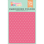 Echo Park - Summer Dreams Collection - Embossing Folder - Sunny Dot