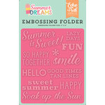 Echo Park - Summer Dreams Collection - Embossing Folder - Summer is Sweet