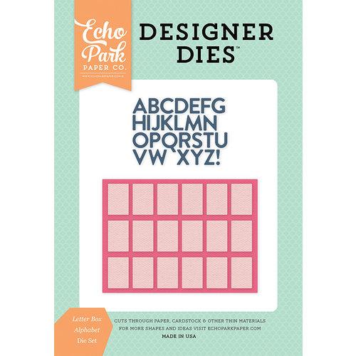 Echo Park - Summer Dreams Collection - Designer Dies - Letter Box Alphabet
