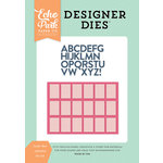 Echo Park - Summer Dreams Collection - Designer Dies - Letter Box Alphabet