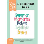 Echo Park Summer Dreams Summer Memories Word Designer Dies
