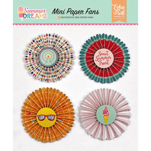 Echo Park - Summer Dreams Collection - Mini Paper Fans