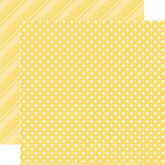 Echo Park - Dots and Stripes Collection - Spring - 12 x 12 Double Sided Paper - Canary