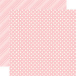Echo Park - Dots and Stripes Collection - Spring - 12 x 12 Double Sided Paper - Peony