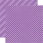 Echo Park - Dots and Stripes Collection - Spring - 12 x 12 Double Sided Paper - Grape