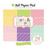 Echo Park - Dots and Stripes Collection - Spring - 8 x 8 Paper Pad