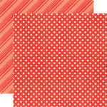 Echo Park - Dots and Stripes Collection - Summer - 12 x 12 Double Sided Paper - Tomato