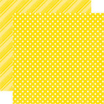 Echo Park - Dots and Stripes Collection - Summer - 12 x 12 Double Sided Paper - Lemon