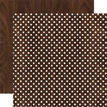 Echo Park - Dots and Stripes Collection - Neutrals - 12 x 12 Double Sided Paper - Wood Grain