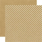 Echo Park - Dots and Stripes Collection - Neutrals - 12 x 12 Double Sided Paper - Kraft