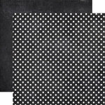 Echo Park - Dots and Stripes Collection - Neutrals - 12 x 12 Double Sided Paper - Chalkboard