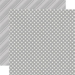 Echo Park - Dots and Stripes Collection - Neutrals - 12 x 12 Double Sided Paper - Grey
