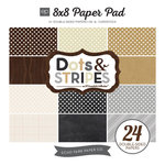 Echo Park - Dots and Stripes Collection - Neutrals - 8 x 8 Paper Pad