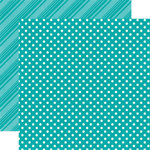 Echo Park - Dots and Stripes Collection - Brights - 12 x 12 Double Sided Paper - Aqua