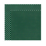 Echo Park - Dots and Stripes Collection - Fall - 12 x 12 Double Sided Paper - Evergreen