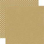 Echo Park - Dots and Stripes Collection - Christmas - 12 x 12 Double Sided Paper - Gold