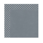 Echo Park - Dots and Stripes Collection - Winter - 12 x 12 Double Sided Paper - Charcoal