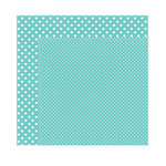 Echo Park - Dots and Stripes Collection - Winter - 12 x 12 Double Sided Paper - Glacier