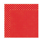 Echo Park - Dots and Stripes Collection - Valentine - 12 x 12 Double Sided Paper - Scarlet