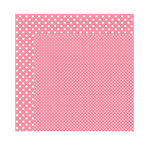 Echo Park - Dots and Stripes Collection - Valentine - 12 x 12 Double Sided Paper - Rosebud