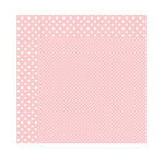 Echo Park - Dots and Stripes Collection - Valentine - 12 x 12 Double Sided Paper - Blush