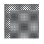 Echo Park - Dots and Stripes Collection - Valentine - 12 x 12 Double Sided Paper - Granite