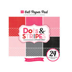 Echo Park - Dots and Stripes Collection - Valentine - 6 x 6 Paper Pad