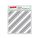 Echo Park - Dots and Stripes Collection - 6 x 6 Stencil - Diagonal Stripes