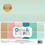 Echo Park - Dots and Stripes Collection - Gold Foil - 12 x 12 Collection Kit