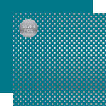 Echo Park - Dots and Stripes Collection - Silver Foil - 12 x 12 Double Sided Paper with Foil Accents - Blue