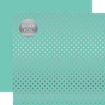 Echo Park - Dots and Stripes Collection - Silver Foil - 12 x 12 Double Sided Paper with Foil Accents - Mint