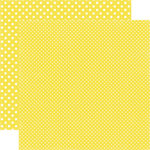 Echo Park - Dots and Stripes Collection - Summer - 12 x 12 Double Sided Paper - Lemonade