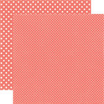 Echo Park - Dots and Stripes Collection - Summer - 12 x 12 Double Sided Paper - Strawberry