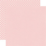 Echo Park - Dots and Stripes Collection - Summer - 12 x 12 Double Sided Paper - Cherry Sorbet