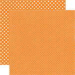 Echo Park - Dots and Stripes Collection - Summer - 12 x 12 Double Sided Paper - Peach