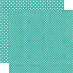 Echo Park - Dots and Stripes Collection - Summer - 12 x 12 Double Sided Paper - Blue Raspberry
