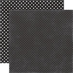 Echo Park - Dots and Stripes Collection - Travel - 12 x 12 Double Sided Paper - Black