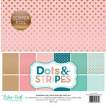 Echo Park - Dots and Stripes Collection - Copper Foil - 12 x 12 Collection Kit