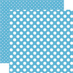 Echo Park - Dots and Stripes Collection - Summer - 12 x 12 Double Sided Paper - Poolside Dot