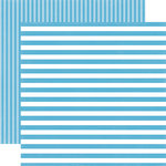 Echo Park - Dots and Stripes Collection - Summer - 12 x 12 Double Sided Paper - Poolside Stripe