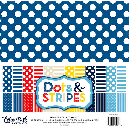 Echo Park - Dots and Stripes Collection - Summer - 12 x 12 Collection Kit