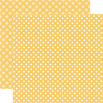 Echo Park - Dots and Stripes Collection - Fall - 12 x 12 Double Sided Paper - Honey Dot