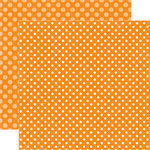 Echo Park - Dots and Stripes Collection - Fall - 12 x 12 Double Sided Paper - Butterscotch Dot