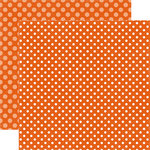 Echo Park - Dots and Stripes Collection - Fall - 12 x 12 Double Sided Paper - Pumpkin Dot