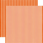Echo Park - Dots and Stripes Collection - Fall - 12 x 12 Double Sided Paper - Pumpkin Stripe