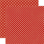 Echo Park - Dots and Stripes Collection - Fall - 12 x 12 Double Sided Paper - Apple Dot