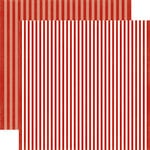 Echo Park - Dots and Stripes Collection - Fall - 12 x 12 Double Sided Paper - Apple Stripe